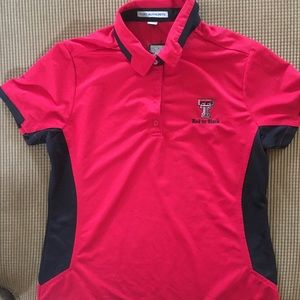 Women's Texas tech polo by port authority size s